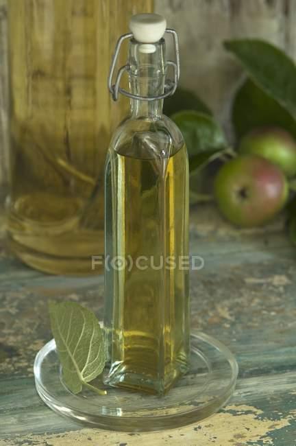 Garrafa de vinagre de maçã — Fotografia de Stock