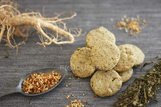 Biscotti di semi di canapa — Foto stock