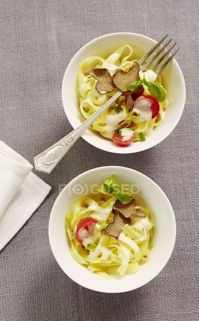 Тальятелле макарони з трюфелі — стокове фото