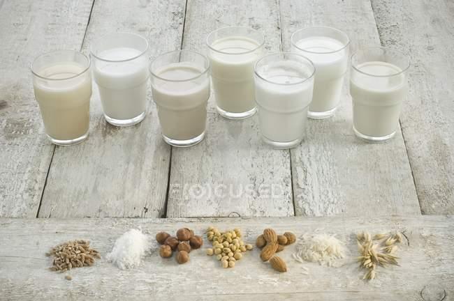 Various types of milks — Stock Photo