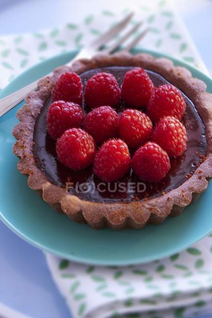 Шоколад малини і Тарталетка — стокове фото