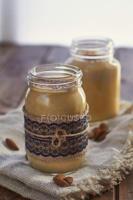 Latte di mandorla vegano — Foto stock