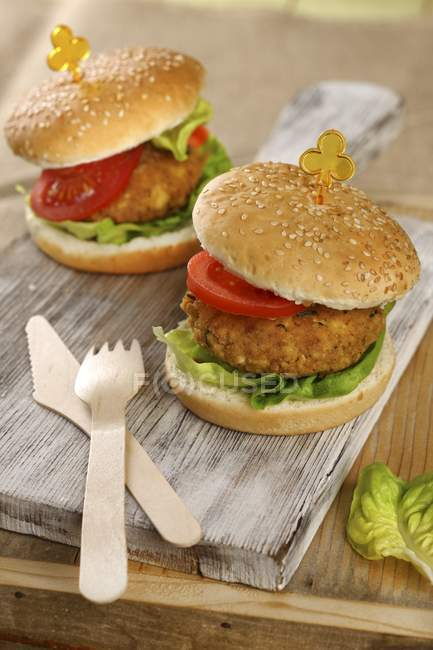 Hamburger vegetariano tofu — Foto stock
