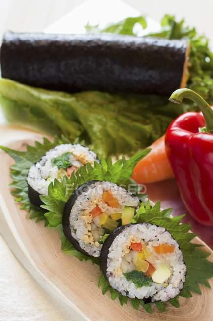 Ehomaki sushi rolls — Stock Photo