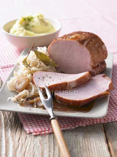 Assado de porco fumada — Fotografia de Stock