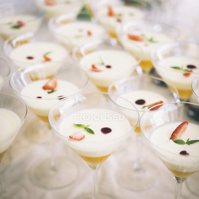 Panna cotta et purée d'abricot — Photo de stock
