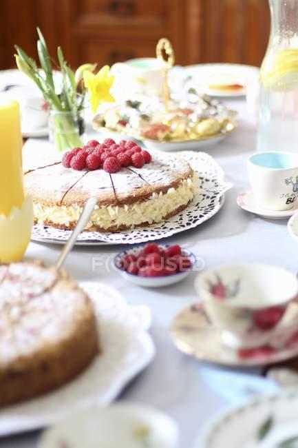 Verschiedene Kuchen und Süßigkeiten — Stockfoto