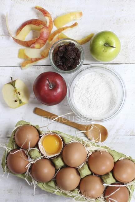 Apple cake arranged on table — Stock Photo