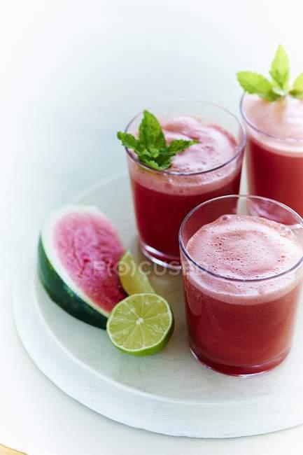 Aqua fresca made with watermelon — Stock Photo