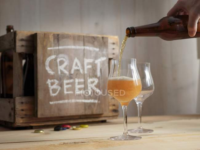 Craft beer tasting session — Stock Photo