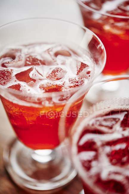 Campari cocktail with ice — Stock Photo
