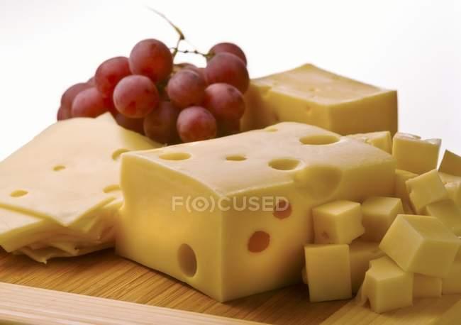 Швейцарский сыр блоки — стоковое фото