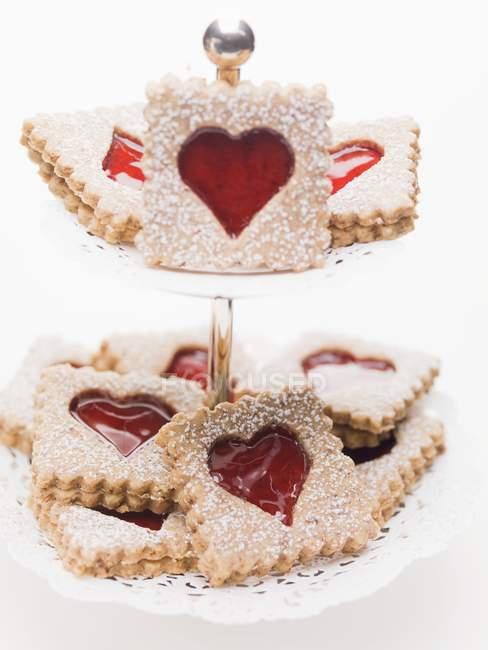 Застревание печенье с сахарной пудрой — стоковое фото