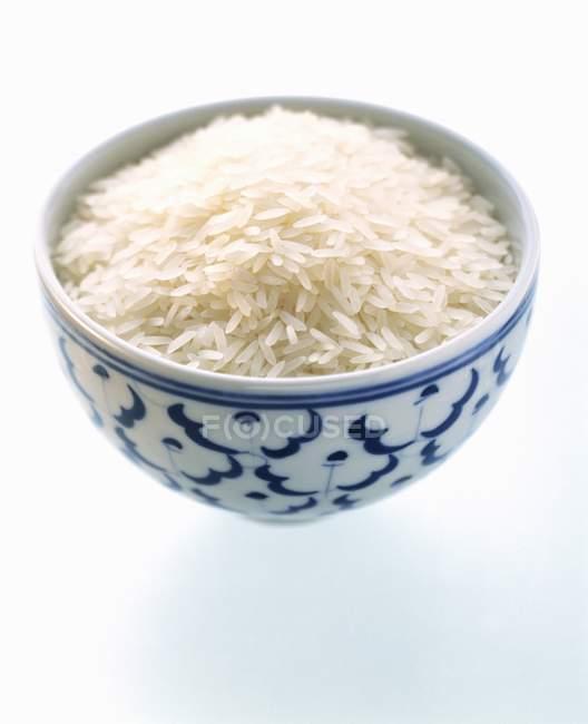 Ungekochter weißer Reis — Stockfoto