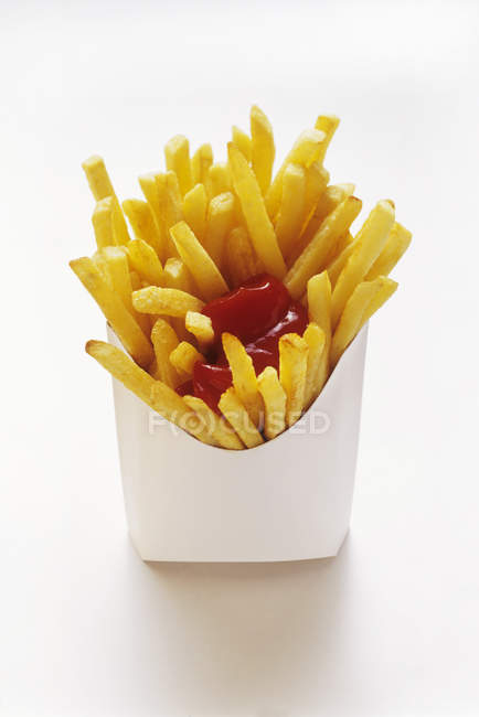 French Fries in Fast Food Box — Stock Photo