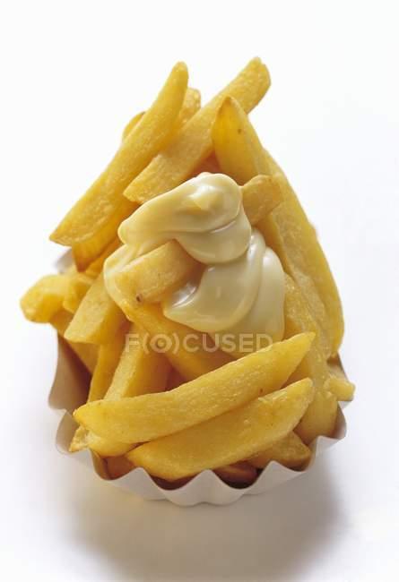 Fries Français dans la zone de restauration rapide — Photo de stock