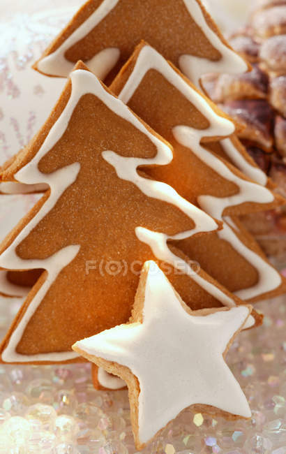 Gingerbread fir trees — Stock Photo