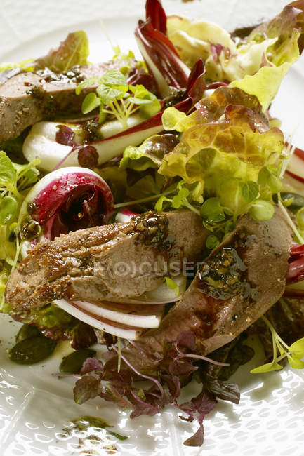 Insalata autunnale con filetti — Foto stock
