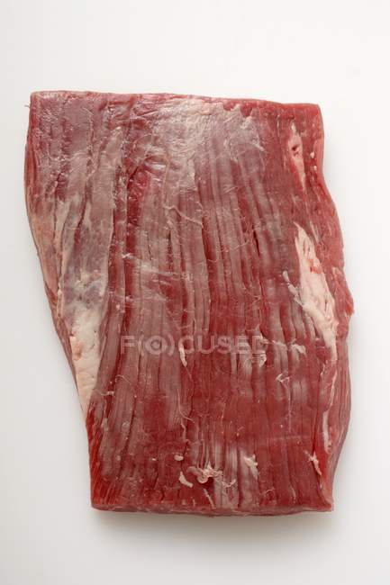 Raw flank steak — Stock Photo