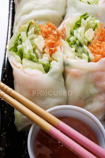 Vietnamese spring rolls — Stock Photo