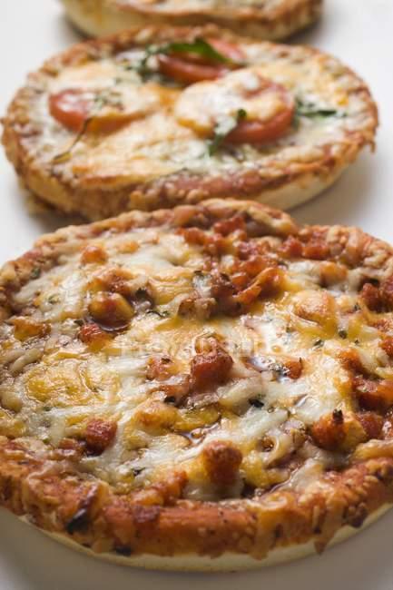 Different mini-pizzas — Stock Photo