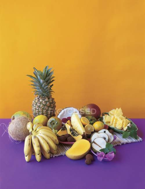Assortment of Tropical Fruits — Stock Photo