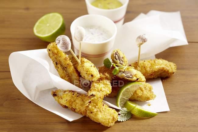 Bastoncini di pesce Pollack — Foto stock