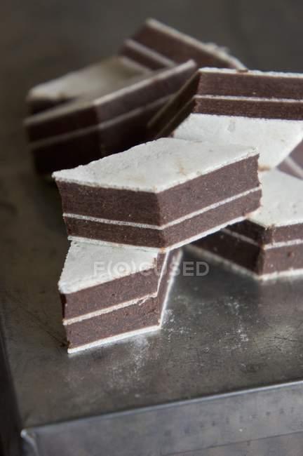 Couches de gâteaux au chocolat — Photo de stock