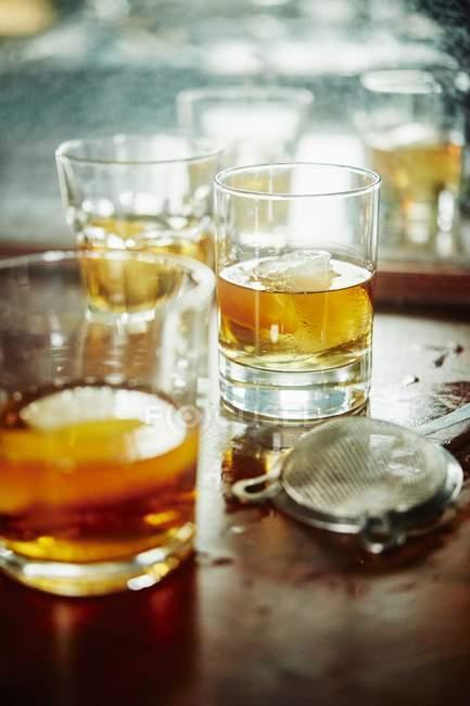 Manhattan-Cocktail mit bourbon — Stockfoto