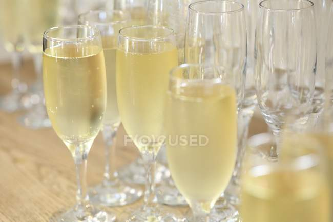 Several glasses of champagne — Stock Photo