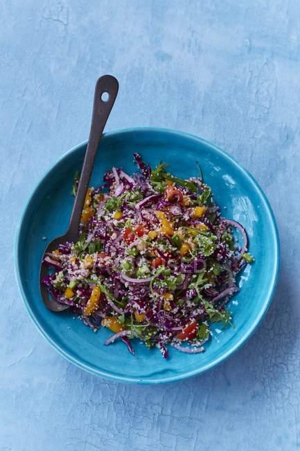 Insalata di arcobaleno con quinoa e bulgur — Foto stock