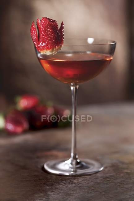 Strawberry Bourbon cocktail — Stock Photo