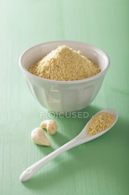 Veganer Cashew-Parmesan-Ersatz — Stockfoto
