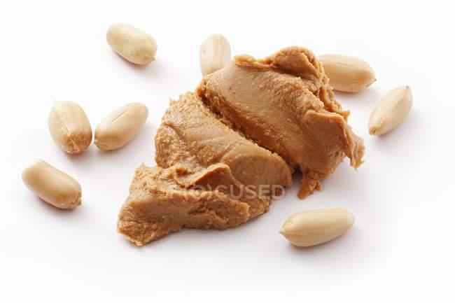 Арахісове масло з арахісу — стокове фото