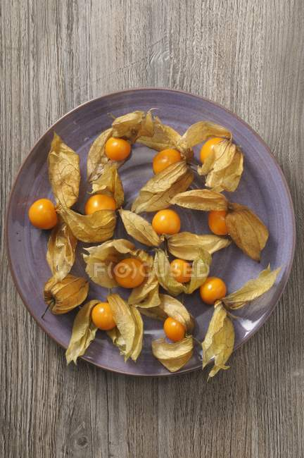 Physalis fruits on a plate — Stock Photo