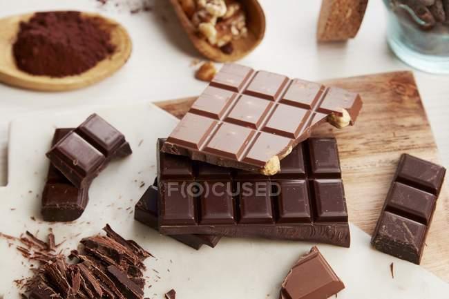 Arrangement de chocolat divers — Photo de stock