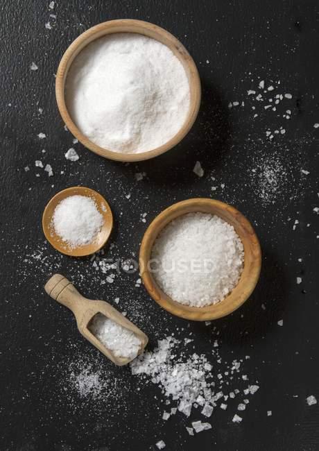Различных типов соли — стоковое фото
