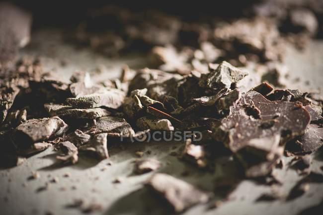 Broken dark chocolate — Stock Photo