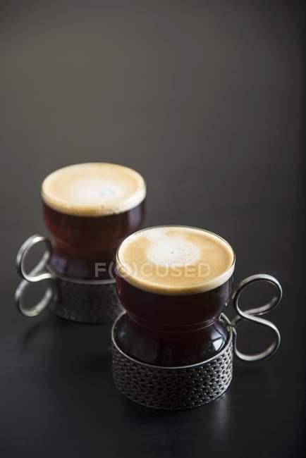 Coffee in Turkish coffee cups — Stock Photo