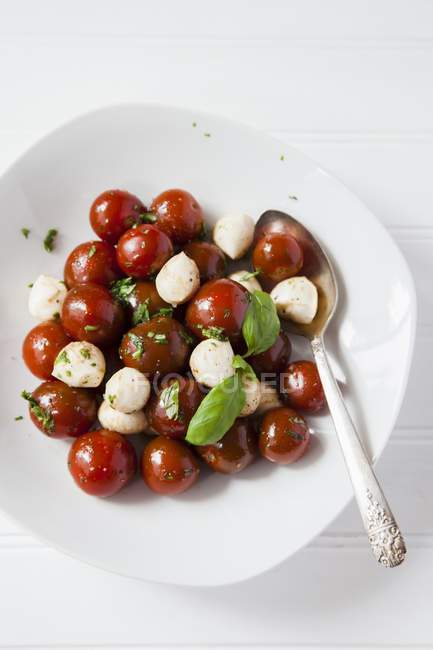 Caprese salad on plate — Stock Photo