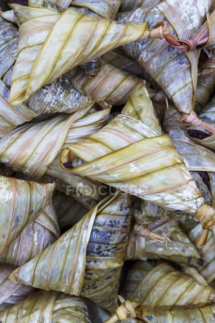 Thai gedünsteter Reis Pakete — Stockfoto