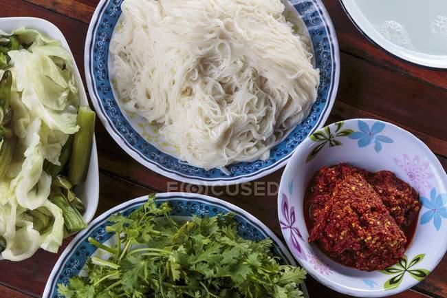 Macarrão de arroz fermentado — Fotografia de Stock