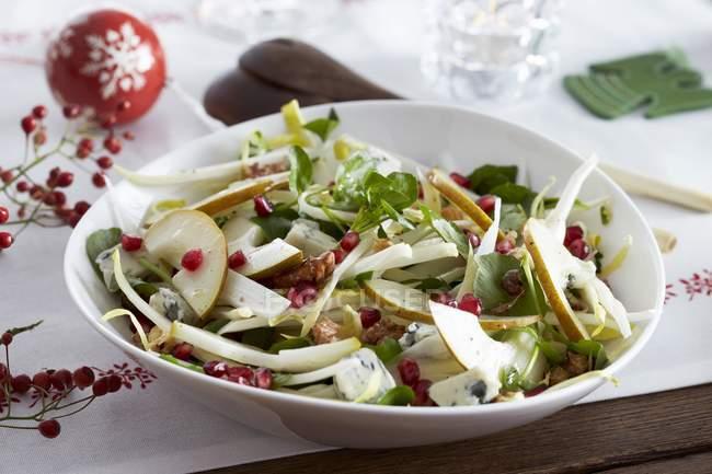 Wintersalat mit Chicorée — Stockfoto