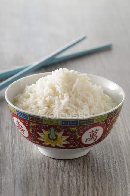 Weißer gekochter Reis — Stockfoto