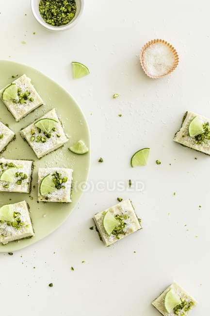 Cheesecake limone e cocco — Foto stock