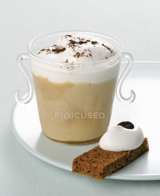 Cappuccino parfait with yogurt — Stock Photo