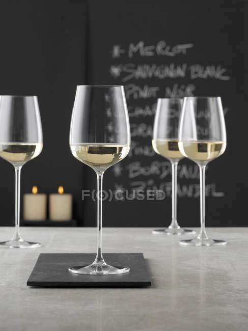 Glasses of white wine — Stock Photo