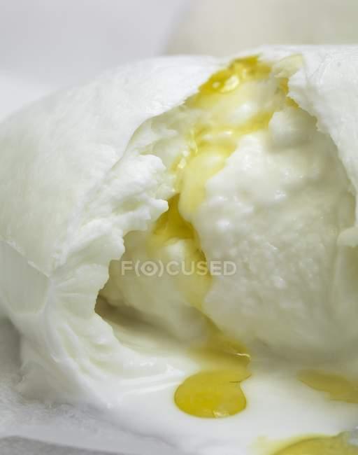 Моцарелла с оливковым маслом — стоковое фото