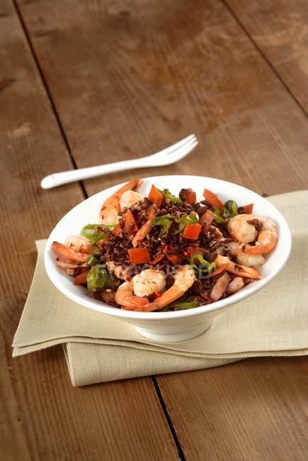 Всякая всячина рисовое блюдо с овощами — стоковое фото