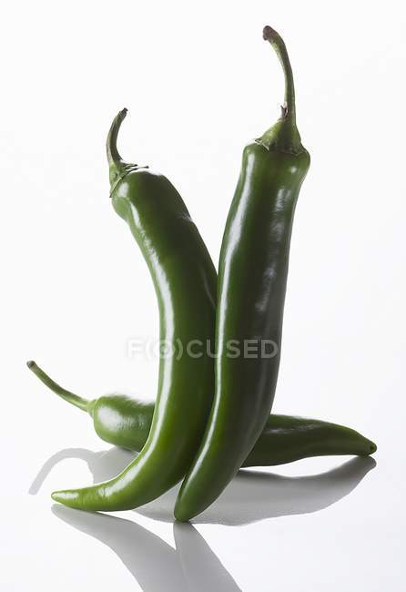 Fresh Green peppers — Stock Photo